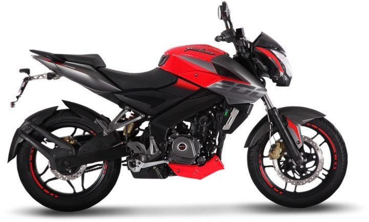 bajaj pulsar ns200 abs images-red-side-profile