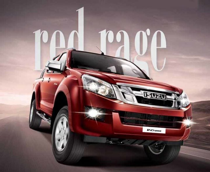 isuzu v cross red colour image
