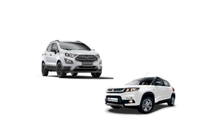 new 2017 ford ecosport vs maruti vitara brezza comparison