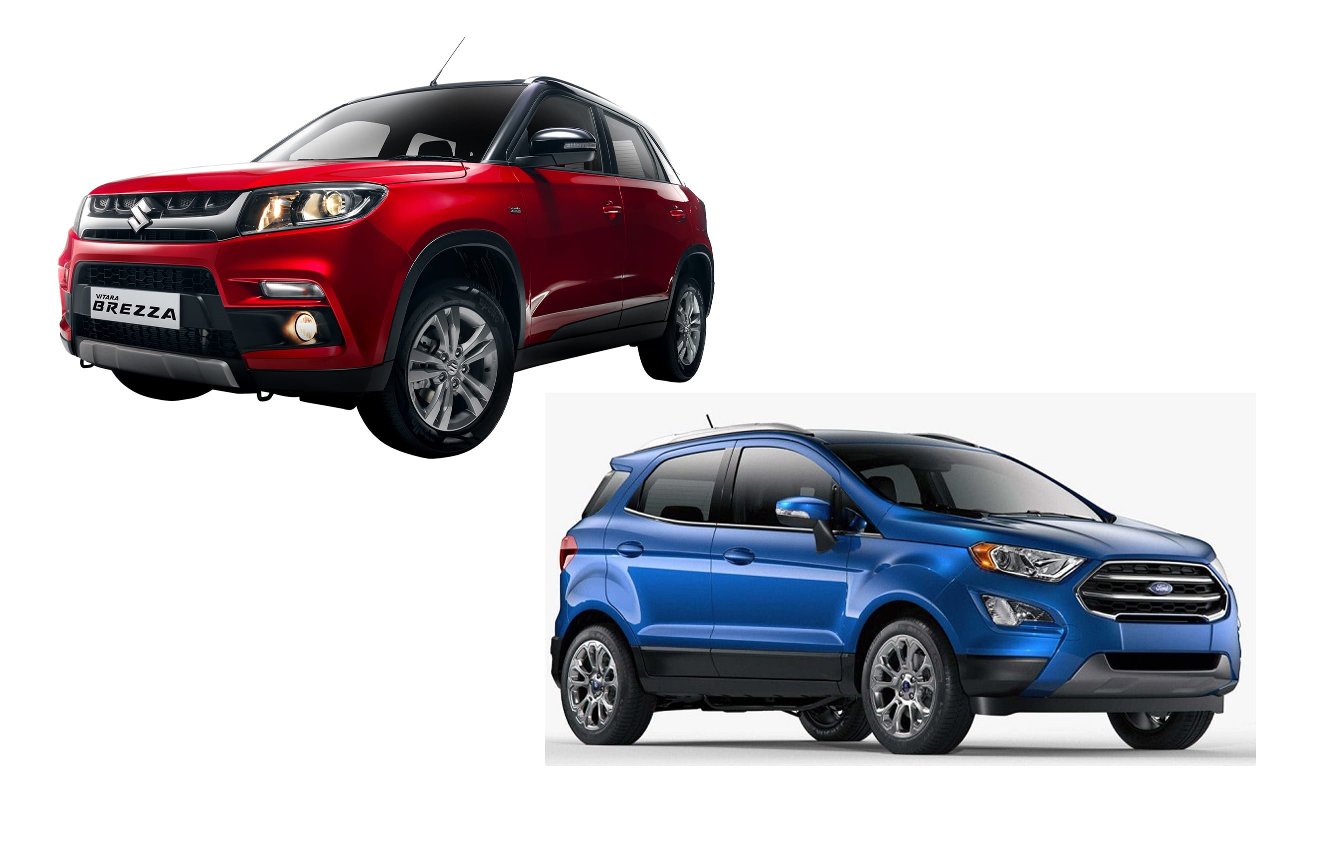 new 2017 ford ecosport vs maruti vitara brezza comparison review. Black Bedroom Furniture Sets. Home Design Ideas