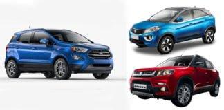 new 2017 ford ecosport vs tata nexon vs-vitara brezza image