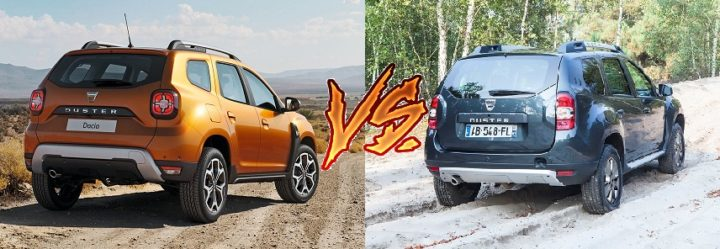 new 2018 renault duster vs old model comparison images rear