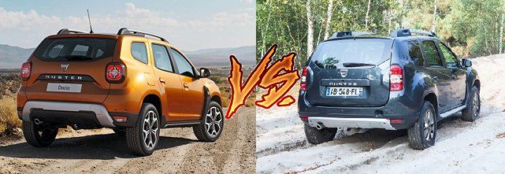 new 2018 renault duster vs old model comparison images rear