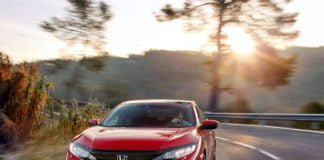new honda civic 2018 images front angle action