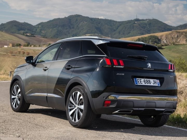 peugeot 3008 suv india images rear angle