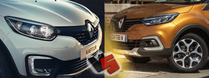 renault captur vs kaptur comparison