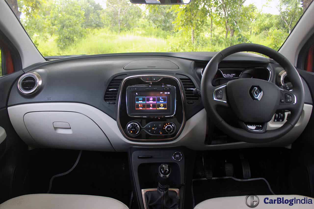 Renault captur vs kaptur comparison of specifications for Interior renault captur