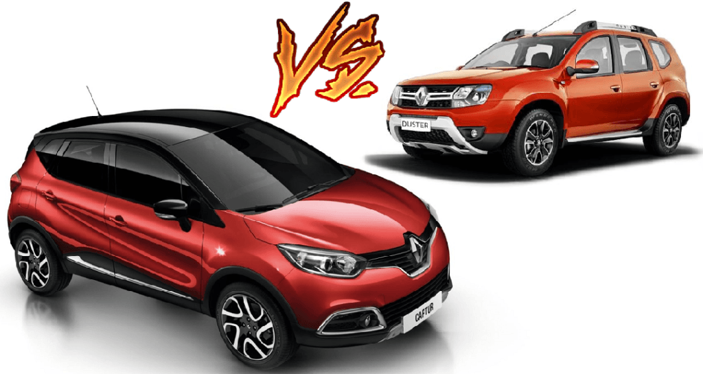 renault captur vs renault duster price specs mileage comparison. Black Bedroom Furniture Sets. Home Design Ideas