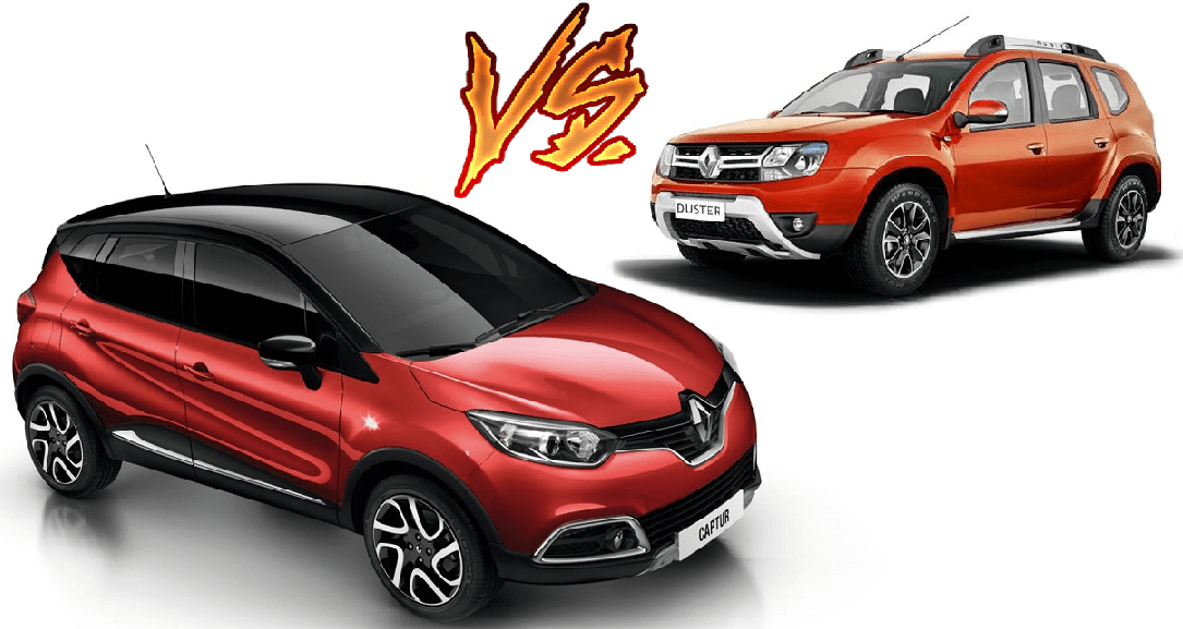 renault captur vs renault duster comparison carblogindia. Black Bedroom Furniture Sets. Home Design Ideas