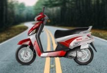Mahindra Gusto RS Red Images Side Profile