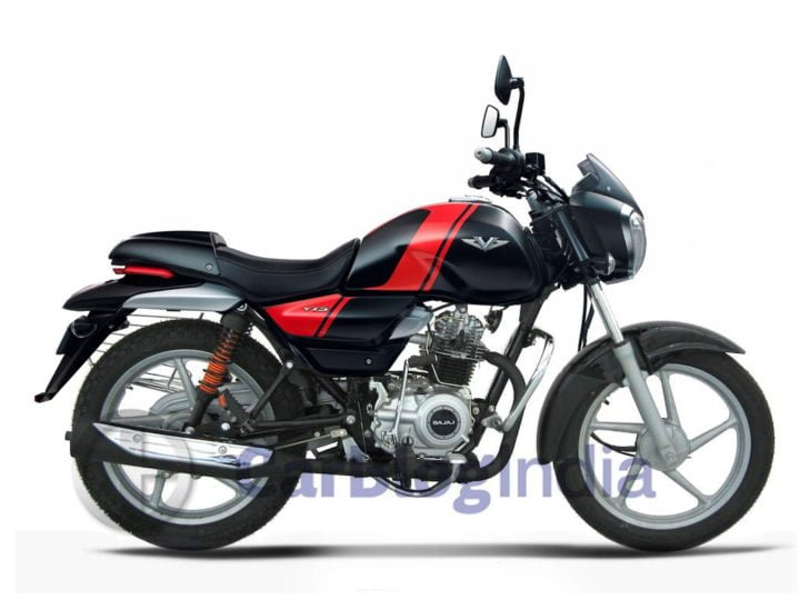bajaj v10 100cc motorcycle image side