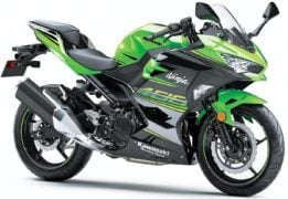 kawasaki ninja 400 india front angle green colour