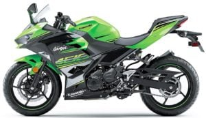 kawasaki ninja 400 india front angle green side profile