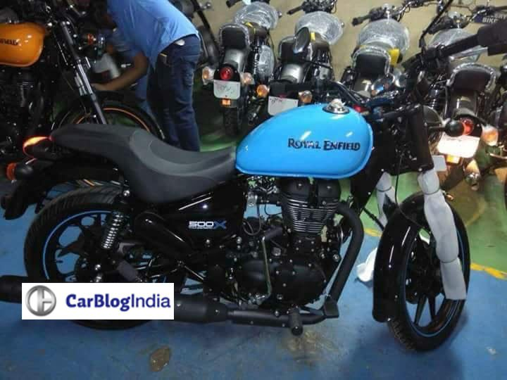royal enfield thunderbird 500x and thunderbird 350x images blue colour side profile