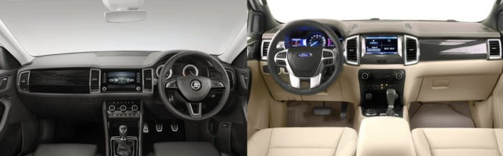 Skoda Kodiaq Vs Ford Endeavour Prices Specs Features