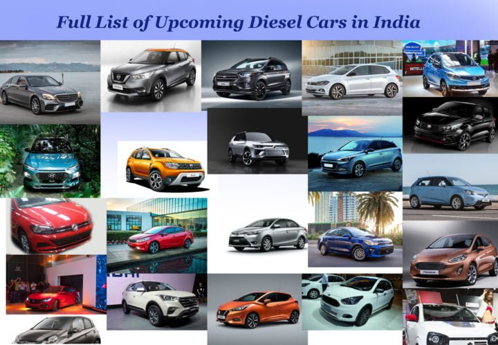 upcoming diesel cars in india 2017