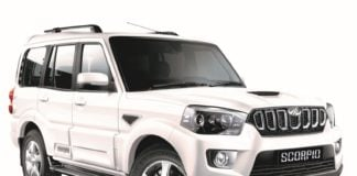 2018 mahindra scorpio facelift images front angle