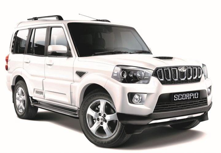 2018 mahindra scorpio facelift images front angle