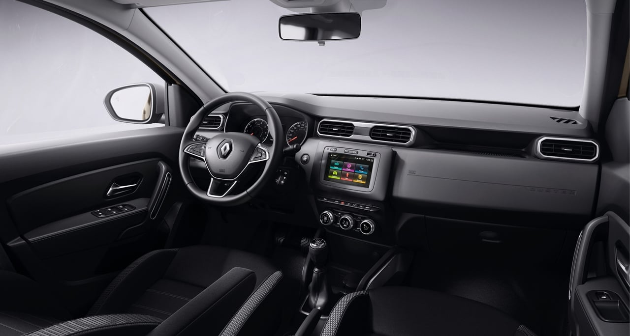 2018 renault duster interior dashboard carblogindia. Black Bedroom Furniture Sets. Home Design Ideas