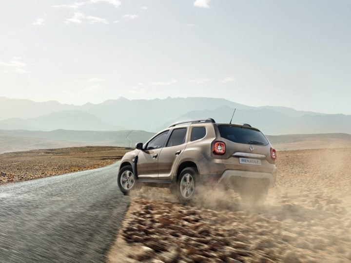 2018 Renault Duster Rear Angle Action Photo
