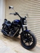 Modified Royal Enfield Thunderbird 500 Blue Raider 540 front angle images