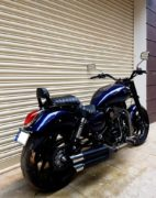 Modified Royal Enfield Thunderbird 500 Blue Raider 540 rear angle images