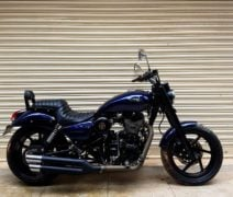Modified Royal Enfield Thunderbird 500 Blue Raider 540 side profile images