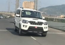 mahindra scorpio facelift images front