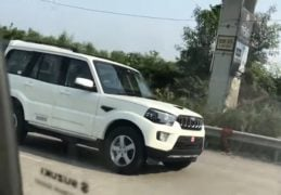 mahindra scorpio facelift images front angle