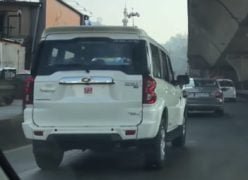 mahindra scorpio facelift images rear angle