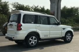 mahindra scorpio facelift images side profile