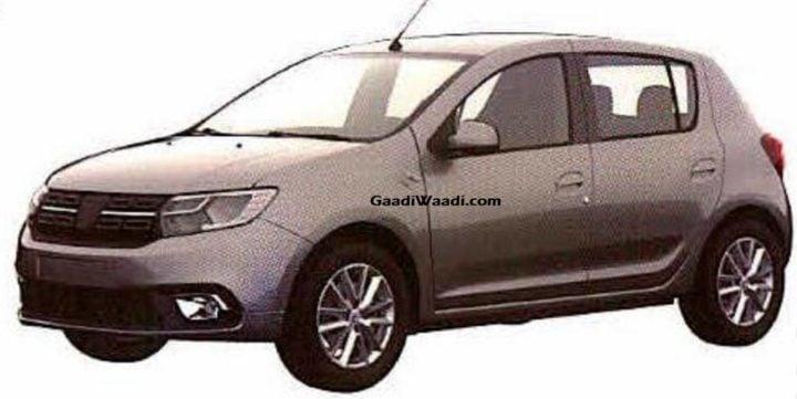 Dacia Sandero Patented In India