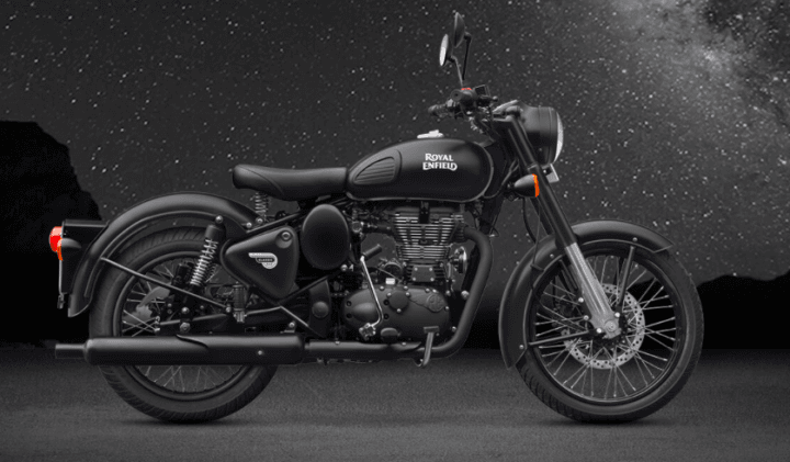 Limited Edition Stealth Black Royal Enfield Classic 500