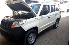 Mahindra TUV300 Plus images rear front angle engine bay