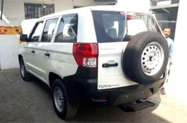 Mahindra TUV300 Plus images rear three quarters