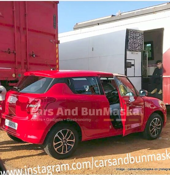 New 2018 Maruti Swift Spied During TVC Shoot, Launch Soon