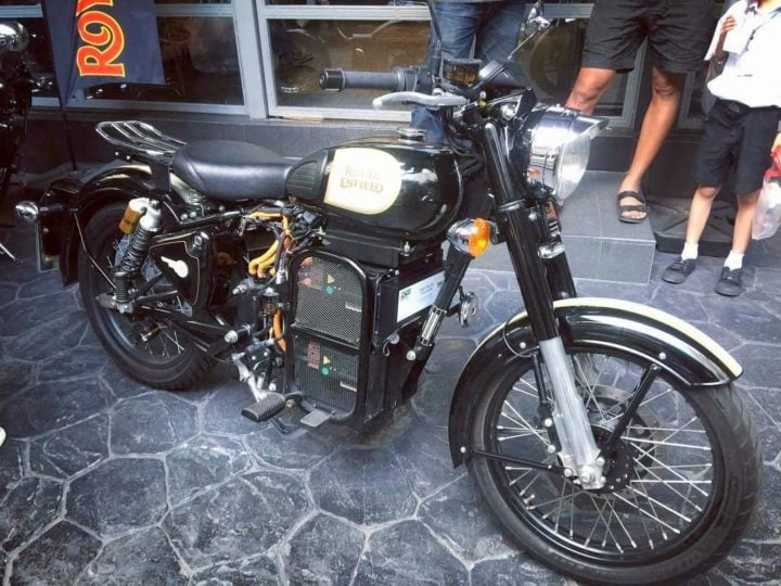 Royal Enfield Classic Electric Thailand Side Angle Images