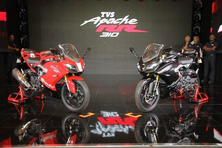 TVS Apache RR310 Images - Red and Black Colours
