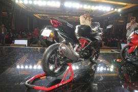 TVS-Apache-RR-310-launch-rear-three-quarter-black