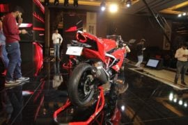 TVS-Apache-RR-310-launch-rear-three-quarter-red-right