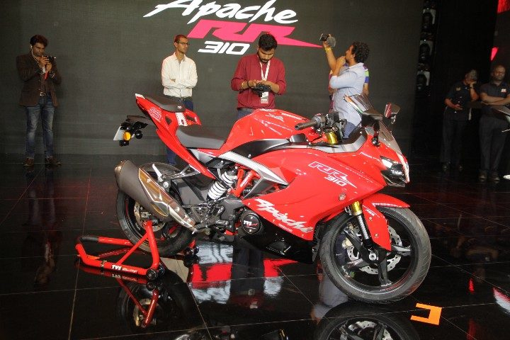 TVS Apache RR310 Images - Red Colour