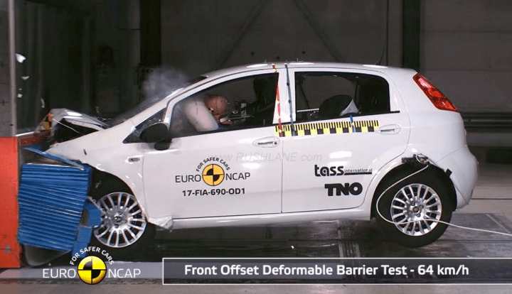 fiat punto fails euro ncap crash test gets zero rating. Black Bedroom Furniture Sets. Home Design Ideas