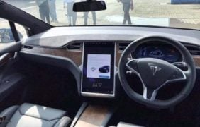 first Tesla in india images interior