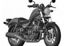honda rebel 300 india launch images patent leak