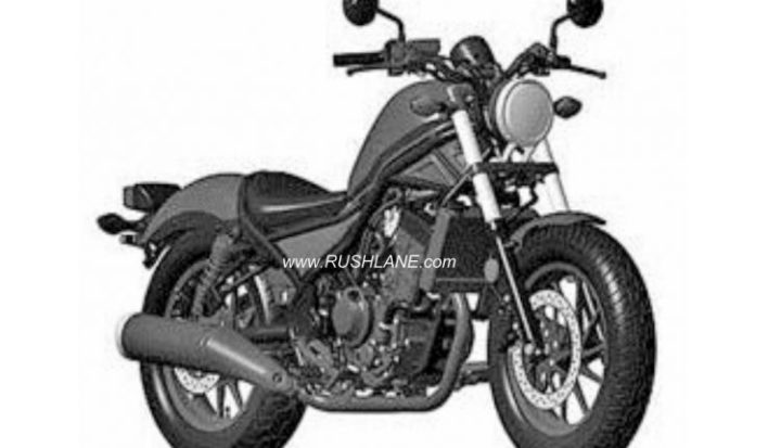 Honda Rebel 300 India Launch In 2019 Patent Images Leak Online