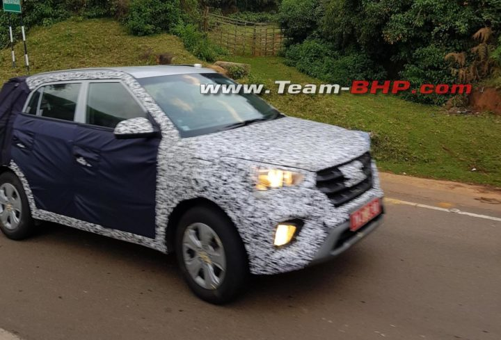hyundai creta facelift images front angle action spy photo