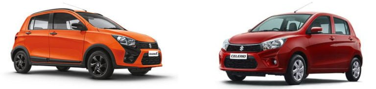 Maruti CelerioX vs Celerio – Comparison of Price, Specs, Features