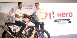 new hero rr 450 rally bike c s santosh