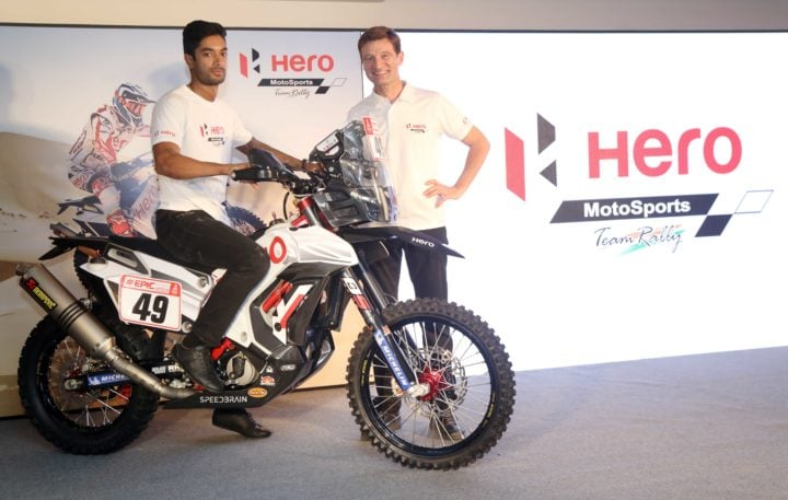 new hero rr 450 rally bike c s santosh
