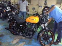 royal enfield thunderbird 500x images yellow colour side profile